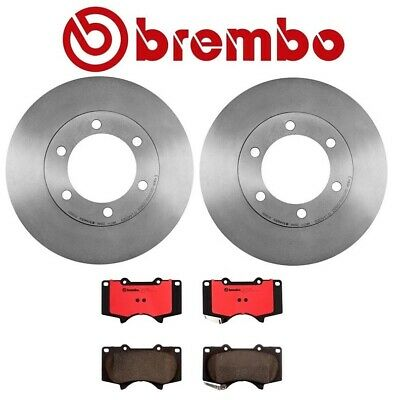 For 07-15 Toyota Tundra 08-16 Sequoia Front Brake Rotors Ceramic Pad Drill Slot