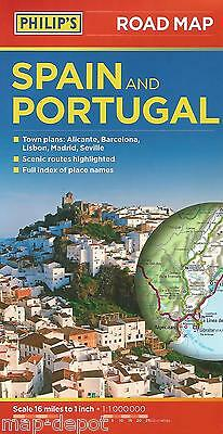 SPAIN PORTUGAL ROAD MAP - NEW - PHILIPS - 2015 Edition