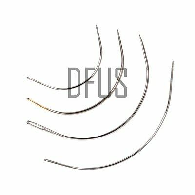 """Curved needles, 2"""", 3"""", 4"""", 5"""", 6"""" all sizes, upholstery, hand sewing repair kit"""