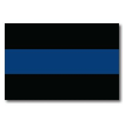 Police Officer Thin Blue Line Flag 4x6 Magnet Decal - Heavy Duty