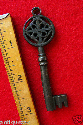 Rare Classic Italian 16th. C. Venetian Antique Old Skeleton Key From Italy