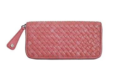 Mercedes: Ladies Wallet -  Coral Leatherette - NEW! designer, faux leather gift