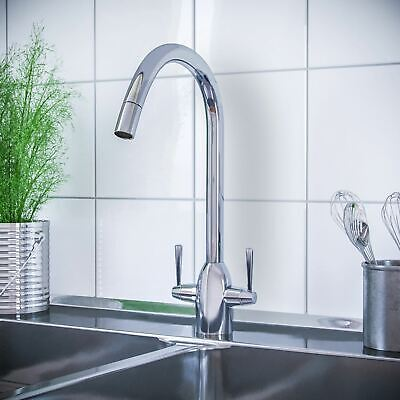 Witton Kitchen Sink Chrome Swivel Pull Out Spray Mixer Tap Single Lever Faucet
