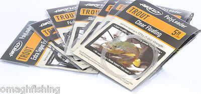 Airflo 5ft Trout Poly Leader*All Densities*Trout Fishing Leader Sink Tip Tapered