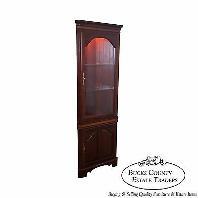 Solid Cherry Chippendale Style Corner Cabinet