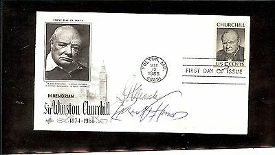 Us Autographed First Day Cover Scott# 1264, Winston Churchill  1 Signature