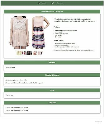 ebay listing template simple_listing3_green increase your sellings