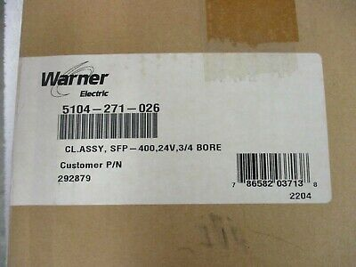 NIB Warner Electric Magnetic Brake      5104-271-026      CL.ASSY,SFP-400