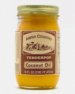 Amish Country Coconut Popcorn Popping Oil - 16 Oz Jar - Free Expedited Shipping!