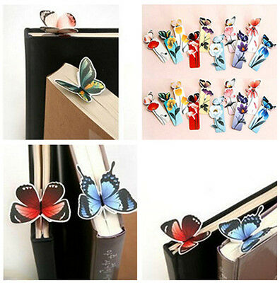 4 PCS Cute Butterfly Shape Mini Bookmarks Stationery Reading Accessories Gift PA