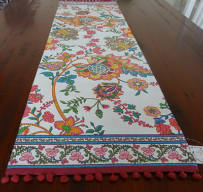 TABLE RUNNER 'XABIA - PLUM' 36 x 130CM LONG BEAUTIFUL COLOURS IN A MODERN FLORAL