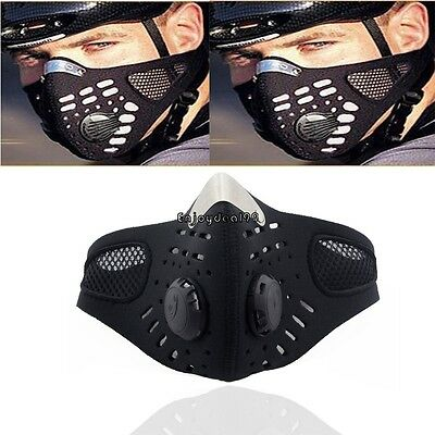 Motorcycle Bicycle Bike Half Face Mask Filter Anti Dust Black Mouth Muffle OO