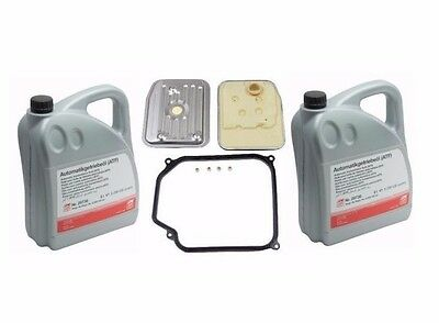 10-Liters VW Auto Transmission Fluid+Filter Kit Golf Jetta 01M398009 G052162A2
