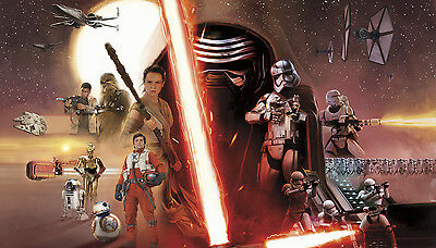 STAR WARS THE FORCE AWAKENS XL WALLPAPER MURAL Prepasted & Strippable Wall Decor