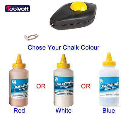 Chalk Line & Choose your Colour Chalk, Red, White & Blue.