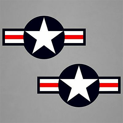 """2-30/""""x14.5/"""" USAF WWII Aircraft Insignia Stickers Military Decal Sticker Car"""