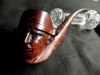 Rare Antique Estate Stunning Hand Carved Napoloeon French Pipe