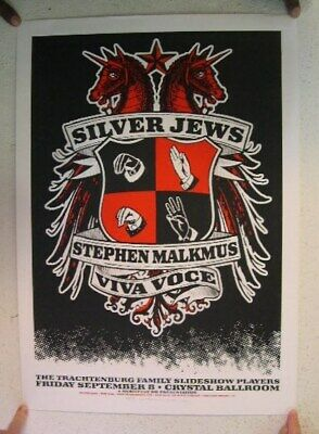 Silver Jews Stephen Malkmus Silverjews Poster S/N Sept 8 Portland Pavement The