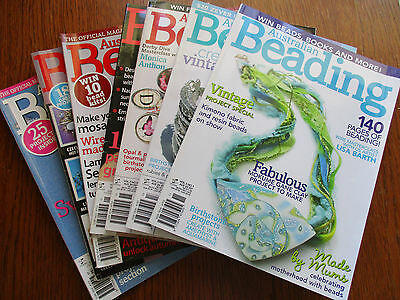 Lot 4 - 7 Beading Magazines Australian Beading - Great Inspiration