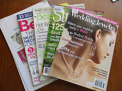 LOT 7 - 4 BEADING BOOKS/MAGS plus INSTRUCTIONS - GREAT INSPIRATION