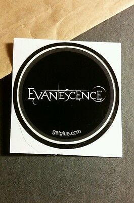 "Evanescence Name Group B&w Black Music Small 1.5"" Getglue Get Glue Sticker"