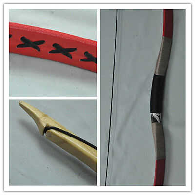 NEW red leather Hungarian Hunting Longbow Archery Recurve Bow 10-110lbs 22
