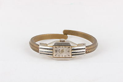 Waldman 17 Jewel Swiss Made Cuff Vintage Wrist Watch  6670