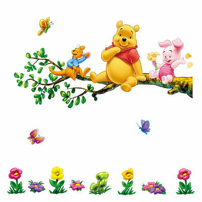 winnie the pooh 2 pieces large wall sticker decal children/kids bedroom