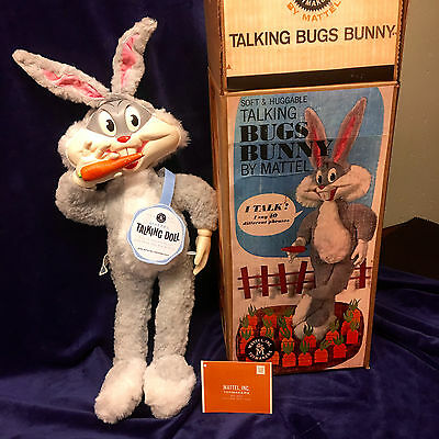 Awesome 60s Bugs Bunny. Clean, Talks, Box, Tags. Very large bunny.