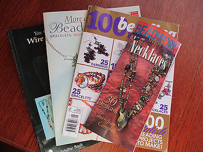 LOT 17 - 7 BEAD and WIRE JEWELLERY MAKING BOOKS - GREAT INSPIRATION