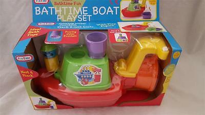 Funtime Bathtime Nest Stack Boat Playset Pre School Bath Toy with Play Figure