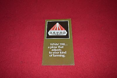 White Oliver Tractor 598 Plow Dealers Brochure DCPA4