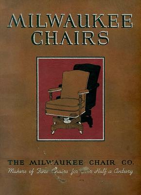 """Catalog The Milwaukee Chair Co 30th St """"Makers of Fine Chairs"""" Wisconsin  c1929"""