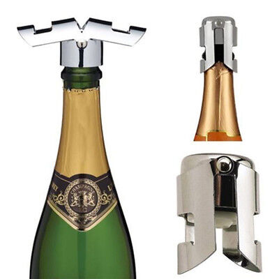 Stainless Steel Champagne Vacuum Sealed Sparkling Wine Bottle Stopper Plug