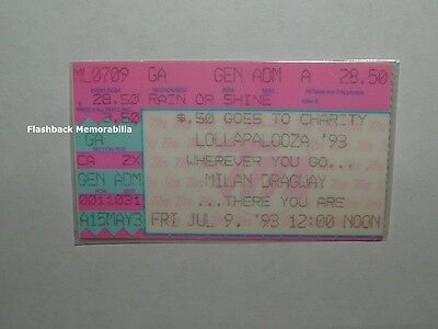 LOLLAPALOOZA 1993 Ticket Stub ALICE IN CHAINS Tool PRIMUS R.A.T.M. Milan DETROIT