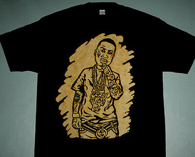 e2f212c7 New Black gold La Flare rap Gucci Mane shirt The Gooch mane atlanta rap  cajmear