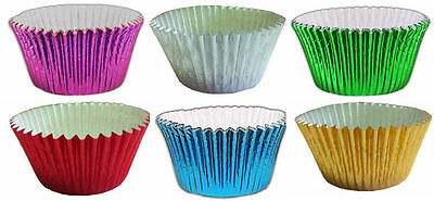 METALLIC FOIL CUPCAKE CASES Muffin Cup Cake Choose colour & Quantity