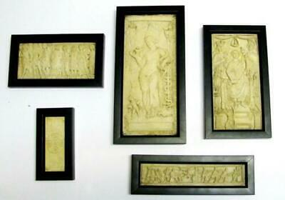 Five (5) Antique Early Christian & Roman Bas-relief Miniature Sculptures
