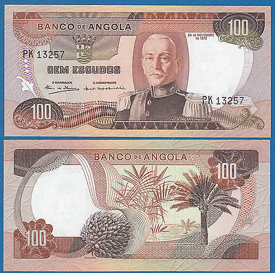 Angola 100 Escudos P 101 1972 UNC Low Shipping! Combine FREE!