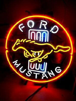 Ford Mustang AMERICAN Automobile Neon Light Sign - ME274