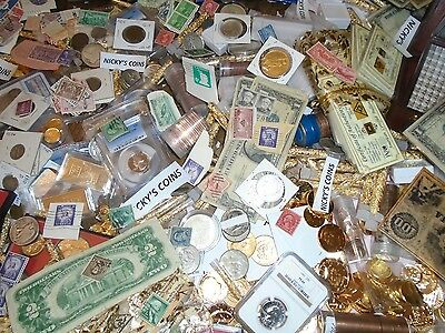 Stamps Estate Old Us Coin Lot*Gold Silver*.999 Bullion Hoard Pcgs Proof  Sale