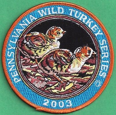 """Pa Game Commission Related Wilderness Editions 2003 4"""" Chick Wild Turkey Patch"""