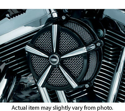 Kuryakyn 9549 Hi-Five Mach 2 Air Cleaner (Black/Chrome) 2007-15 Harley Sportster