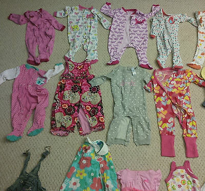 HUGE LOT of 88 Pieces Girls Size 12 Months Clothing Clothes