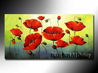 Modern Home Decor abstract oil painting art on Canvas Wall Art Poppy Flower BD28