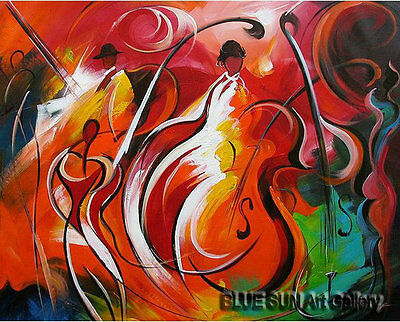 Modern abstract oil painting Music dance Canvas Living Room Wall Art deco ABD112
