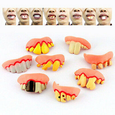 Halloween Dead Zed Zombie SET Ugly Fake Gag Tooth for costume parties Gift