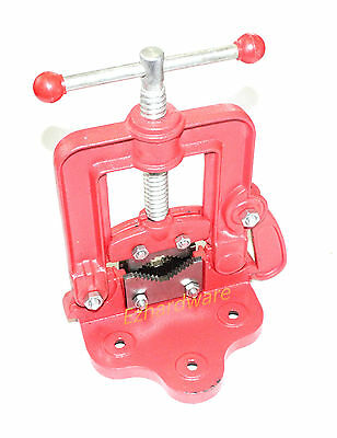 """2""""Pipe Vice Hinged Side Entry Pipe Bench Vise Clamp  Wrench"""