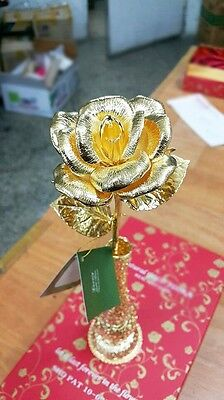 24K Gold Dipped Real Rose Flower decor mother's day birthday valentine's gift