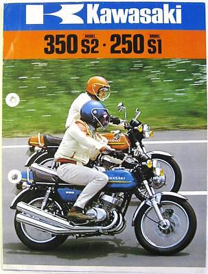 KAWASAKI 350 S2, 200 S1 - Motorcycle Sales Brochure - 1972-73 -#99980-011-05